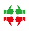 Icons thumbs up and down vector image vector image