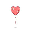 Isolated cartoon broken heart love balloon vector image