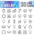 jewelry line icon set accessory symbols vector image vector image