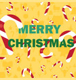 merry christmas with candy cane vector image