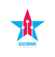 modern lectronic technology - logo template vector image vector image