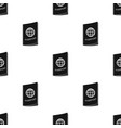 passport icon in black style isolated on white vector image vector image