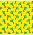 pattern tropical palm tree on yellow background vector image vector image