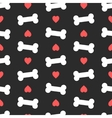 Pink hearts and bones seamless pattern Good for vector image vector image