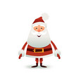 santa claus flat happy vector image