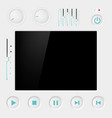 screen with buttons vector image