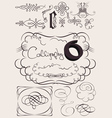 Set Of Calligraphy Elements vector image vector image