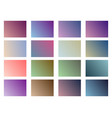 set of gradient backgrounds soft color vector image vector image