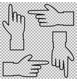 set of hand cursor pictograms isolated on vector image vector image