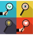 set searching concepts vector image