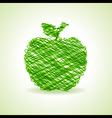 Sketched green apple design stock vector image
