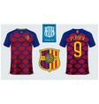 soccer jerseyfootball kit mockup template vector image vector image