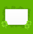 st patrick greeting card vector image