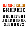 stencil-plate serif font vector image vector image
