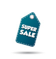 super sale hang tag label on white background vector image vector image