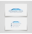 swimming pool business card vector image