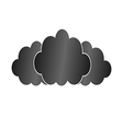 Three black clouds vector image vector image