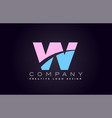 vv w alphabet letter join joined letter logo vector image vector image