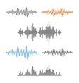 Waveform Shape Soundwave Audio Wave Graph Set vector image