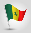 waving simple triangle senegalese flag vector image vector image