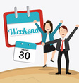 Weekend design vector image