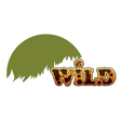 Wild text eps10 vector image vector image