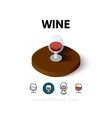 Wine icon in different style vector image vector image