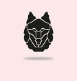 wolf symbol vector image vector image