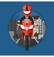 Woman riding motorcycle vector image vector image