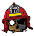 zombie invasion paper mask - fire fighter vector image vector image