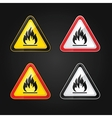 flammable warning sign vector image