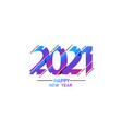 2021 happy new year logo text design vector image vector image