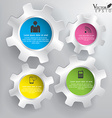 Abstract 3D Gears infographics vector image vector image