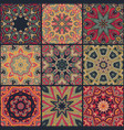 abstract patchwork seamless pattern vector image vector image