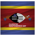 abstract waving flag swaziland independence day vector image