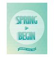 Art poster - spring started vector image vector image