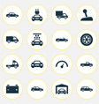 auto icons set collection of automobile