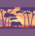 beautiful scene of nature peaceful african vector image