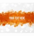 big bright orange grunge splash on white glowing vector image vector image