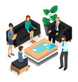 business coworking isometric 3d vector image vector image