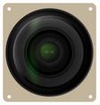 Camera lens shutter icon vector image