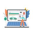 car search online application or program banner vector image vector image