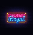 casino royal neon sign casino design vector image vector image