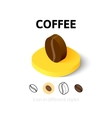 Coffee icon in different style vector image vector image