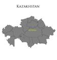 Contour map of Kazakhstan 01 vector image