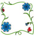 cornflower frame vector image vector image