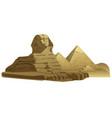 egyptian sphinx sculpture vector image vector image