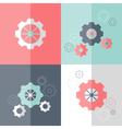 flat gear wheel icons set vector image