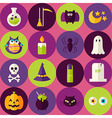 Flat Halloween Scary Witch Seamless Pattern with vector image vector image