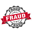 fraud stamp sign seal vector image